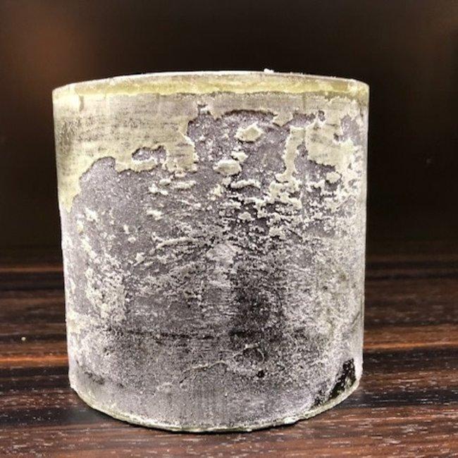 mini super candle dia 10 x 10 cm dark green
