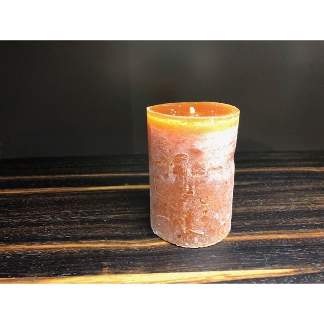 Dekocandle cylinder kaars dia 7x10 cognac