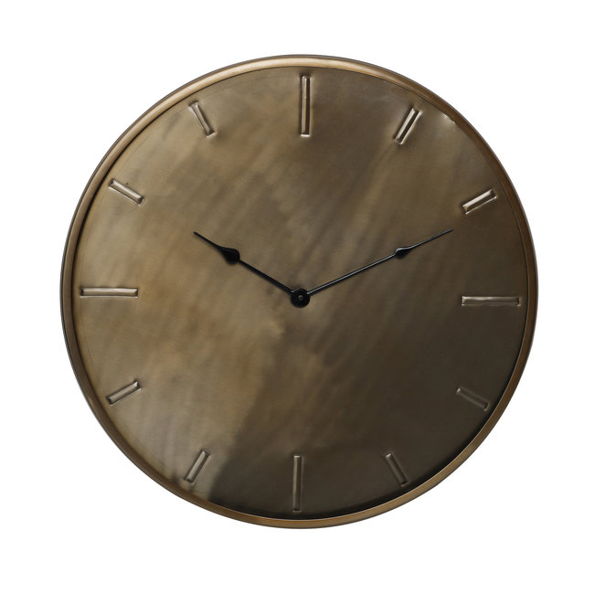 milou brass stainless steel wall clock round s