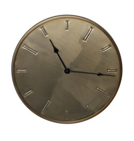 Milou brass stainless steel wall clock XS