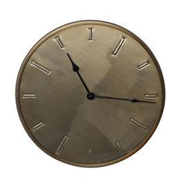 Milou brass stainless steel wall clock XS
