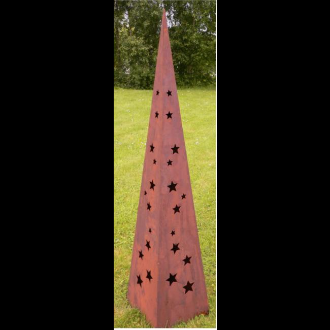 Piramide metaal h 160 cm