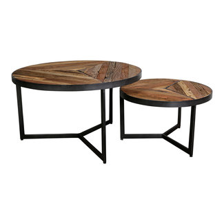 PTMD Danyon round coffeetable set of 2