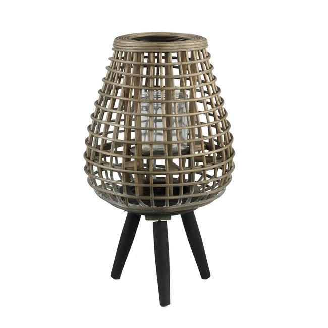 abell natural bamboo lantern wooden fet round M
