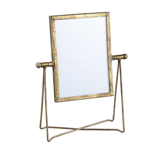Nyla gold iron photoframe in holder rectangle l