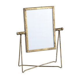 PTMD Nyla gold iron photoframe in holder rectangle S