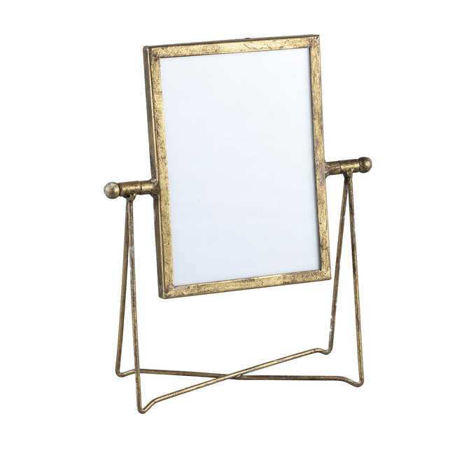 Nyla gold iron photoframe in holder rectangle S