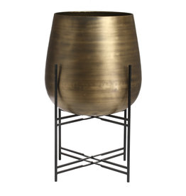 PTMD Bela brass Iron pot round with base