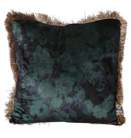 PTMD Teza turquoise Antique print cushion square