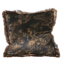 PTMD teza brown Antique print cushion square