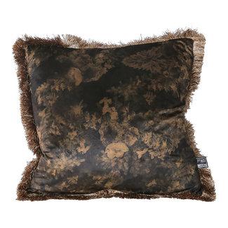 PTMD teza brown Antique print cushion square