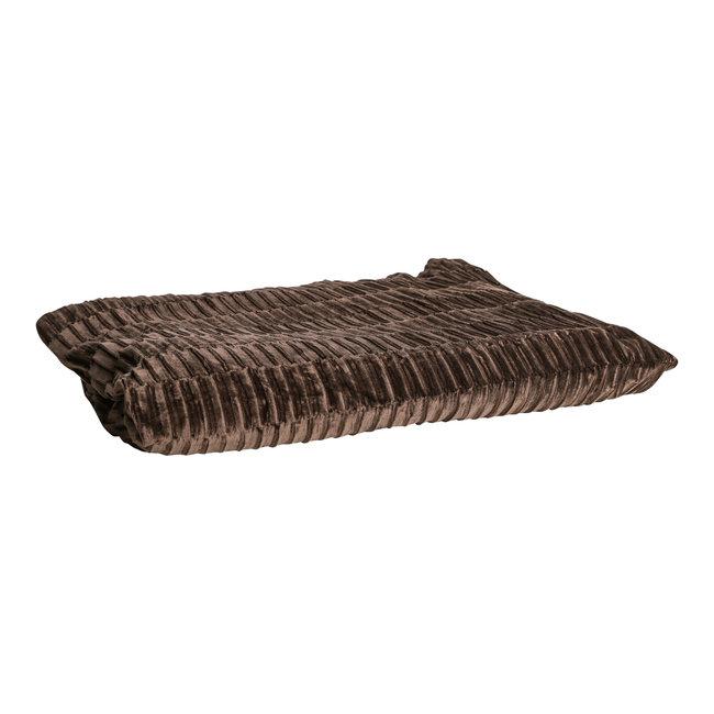 Charell brown ribbed velvet plaid rectangle