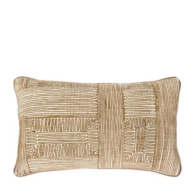 Kussen stripe olijf 30x50 cm