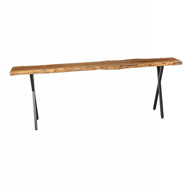PTMD Juar wood natural sidetable black X-leg