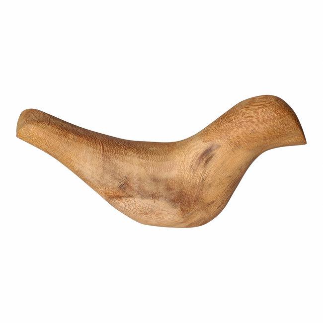 Scotty natural juar wood lying bird statue