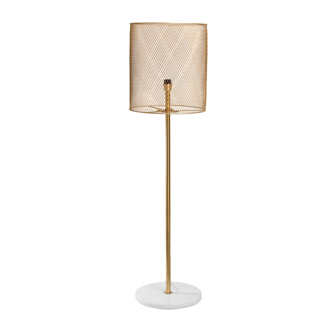 Julien gold iron floor lamp marble base high