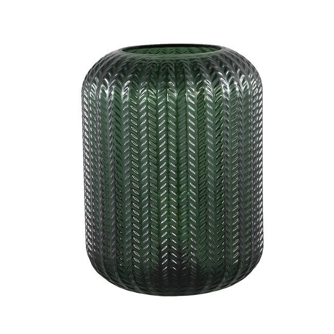 larson green glass table lamp motive
