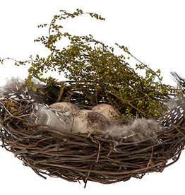 nest eieren natuur pasen 15x15xH5 cm