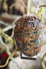 PTMD Feather egg grey pheasant hanging egg