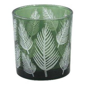 PTMD Yerba green glass vase fern round s