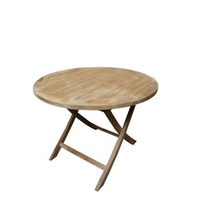 ronde vouwtafel outdoor teak