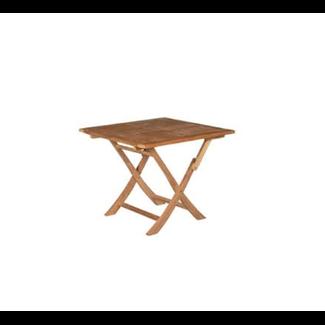 Vierkante vouwtafel teak outdoor