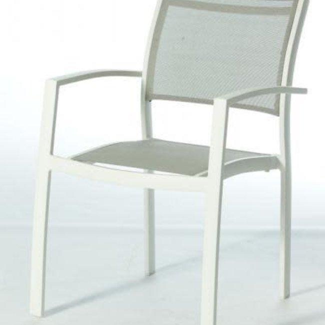 stapelstoel aluminium white