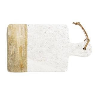 snijplank steen/hout  wit 47,5x27cm