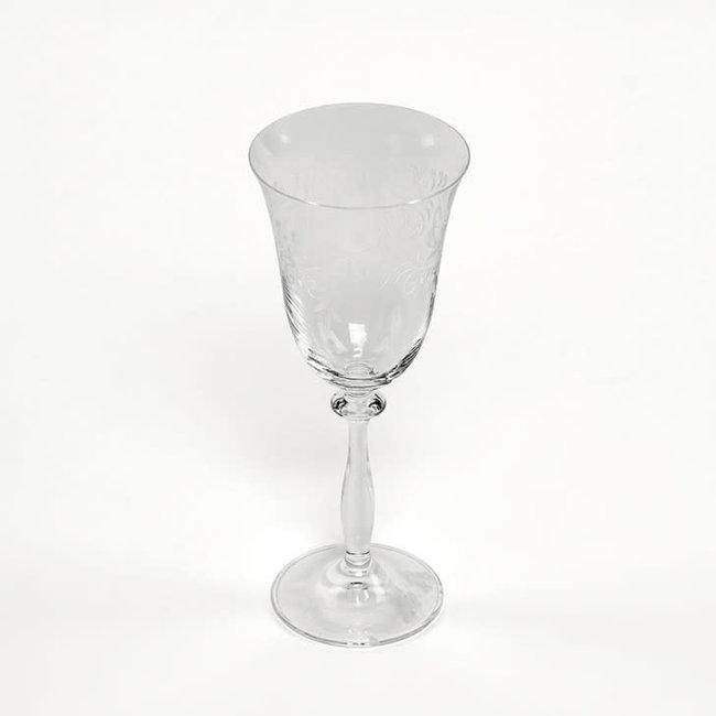 Glass angela  white wine set van 6