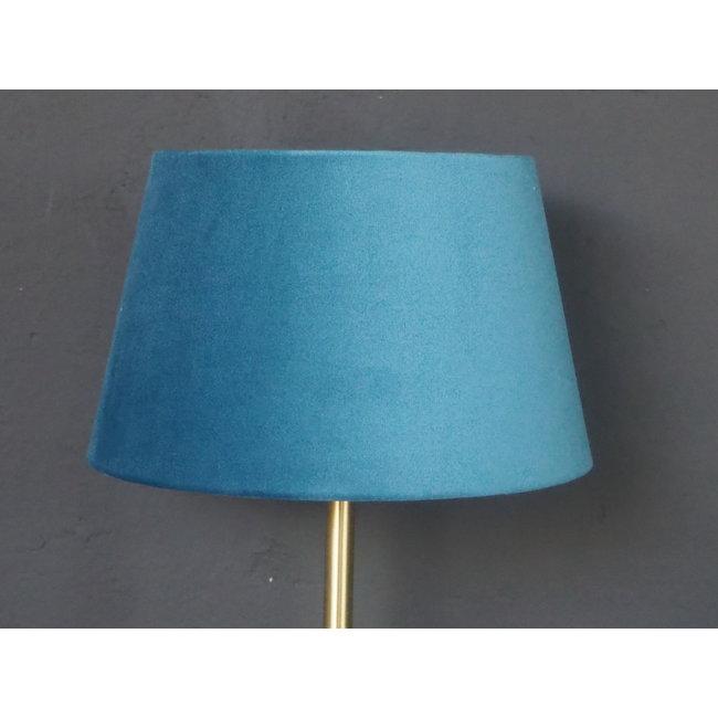 Kapje staande lamp ocean blue on gold