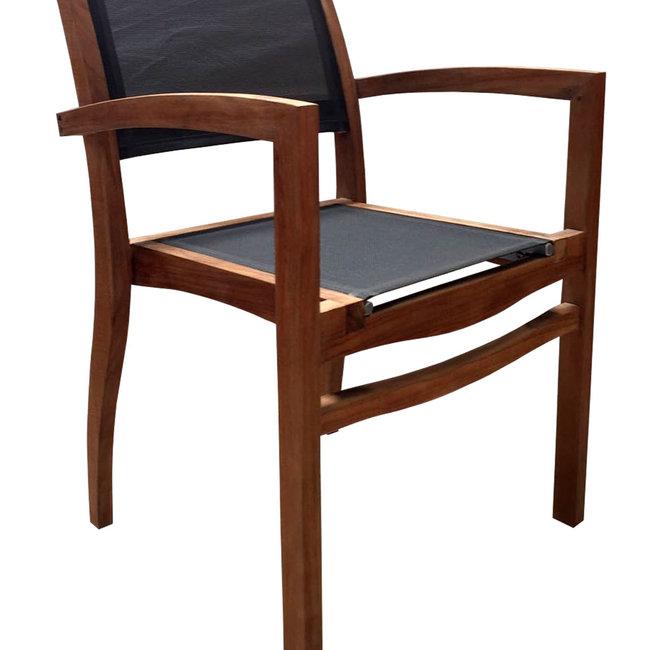 samui oblong stapelstoel zwart