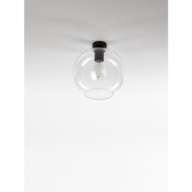 ceiling lamp 1606 zwart speciaal voor glas