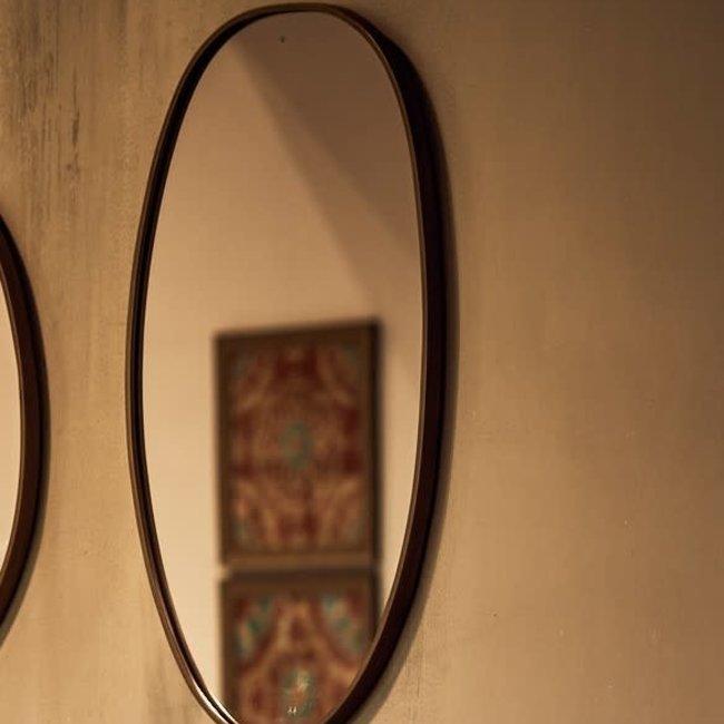 Mirror ovaal brons 32x2x57