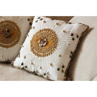 JF The Reborn Home cushion embroidered shells 45x45