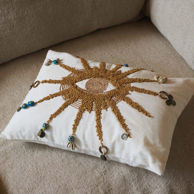 cushion embroidred sunny 35x50