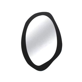 Simla spiegel ovaal metaal mat zwart