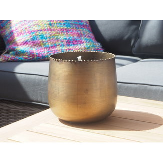 Dekocandle Pot brass antique black wax outdoor large