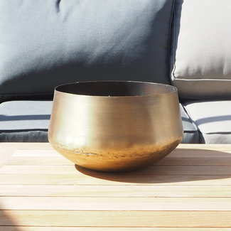 Dekocandle pot brass antique black wax outdoor smal