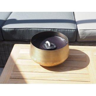 Dekocandle pot brass antique black wax  outdoor