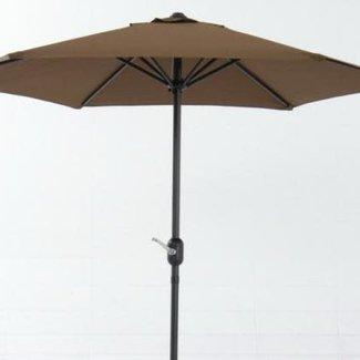 parasol aluminium vierkant 3x3 m taupe