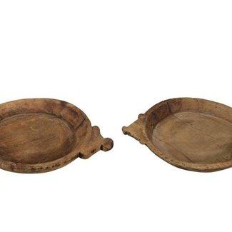 houten schaal met oren