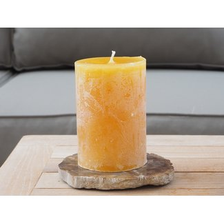 Dekocandle Cylinder candle dia 7x10 cm kerrie
