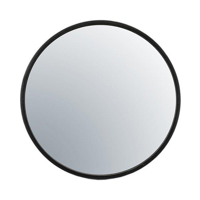 Selfie spiegel large black dia 80 cm