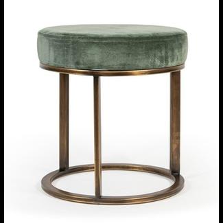 Dekocandle Poef with velvet seat old green