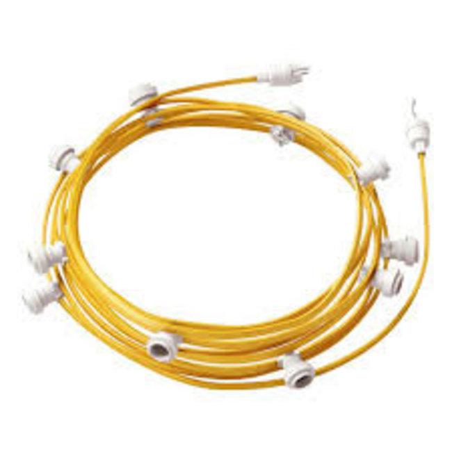 Light string textile Yellow 10x E27