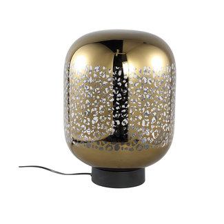 PTMD Shevon Gold tafellamp glas met luipaard print L