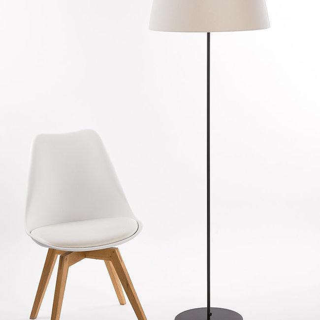 Floorlamp 2806 P1 round H 133 base black 30 cm