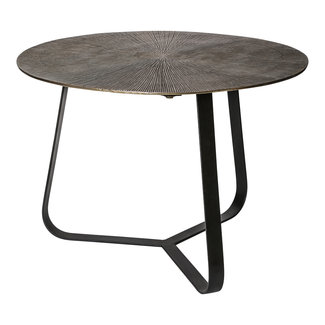PTMD Kae gold alu black iron round side table M