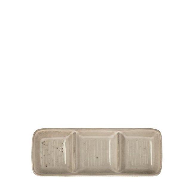 dipschaal Metz lines vintage beige 19 cm