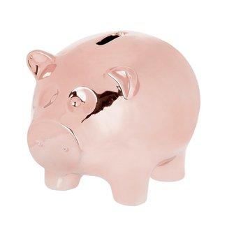 Riverdale spaarvarken Kiki rosé goud 20 cm
